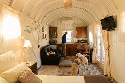 Our railway carriage at Catninga Homestead